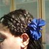 pretty hair braid style for short hair