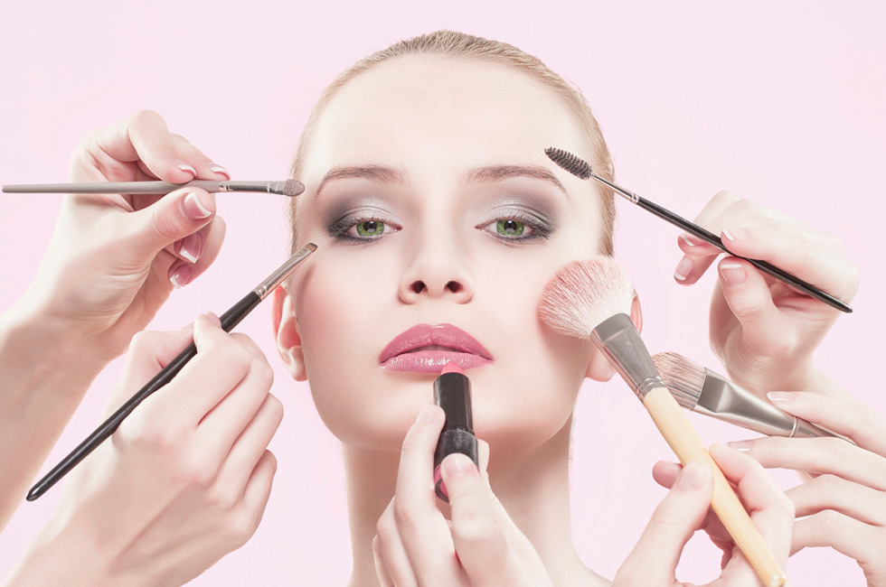 Image result for woman applying make up