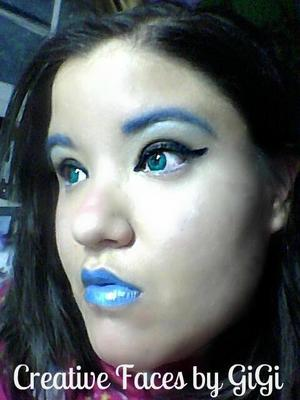 Futuristic Angel look done for Halloween
