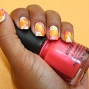 Splatter Summer Neon Nails
