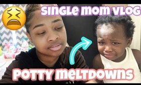 Potty Training MELTDOWNS!!??| Single Mom Day In The Life