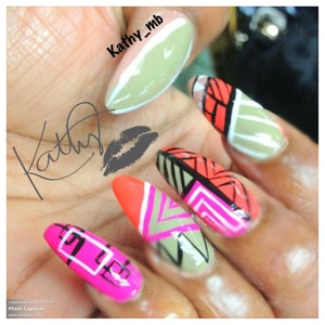 Abstract stiletto nails