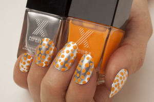 """Used Formula X by Sephora in """"Need for Speed"""" (Silver) & """"Seismic"""" (Matte Orange)."""