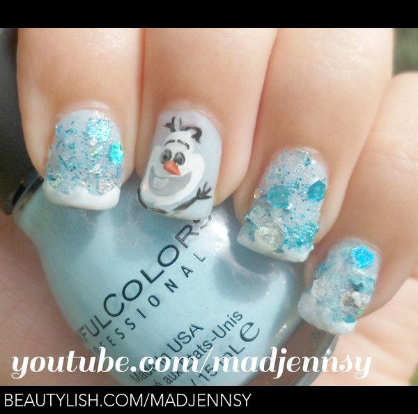 Olaf! Frozen Inspired Nail Art | Madjennsy N.\'s (madjennsy) Photo ...