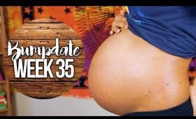 TheNewGirl007 ● PREGNANCY UPDATE! {Week 35} Belly Dropping & REAL Contractions?