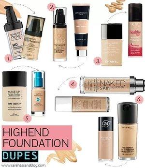 High End Foundation Dupes Beautylish