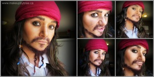 Here is a look I created. To find out how to recreate this look check out my blog on becoming Jack Sparrow: http://www.makeupbybree.ca/1/post/2013/10/becoming-captain-jack-sparrow.html