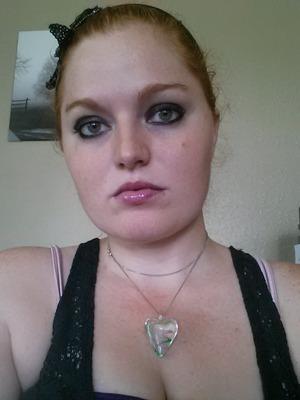 Dark Plum lips and eyes