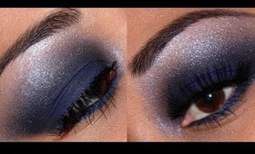 Sephora Holiday Look #7 - SUPER EASY smokey Blue eyes with Red lips!