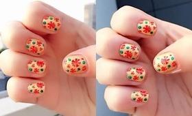 NAV   Christmas Nail Art Stamping & Dotting