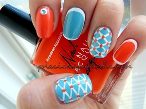 Summery mix-and-match nails.