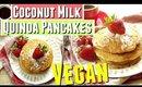 Vegan Coconut Milk Quinoa Pancake Recipe, Vegan Pancake Recipe no Banana with coconut milk & quinoa