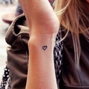 inner wrist heart tattoo
