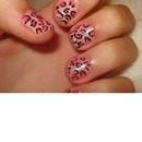 easy lepord nail art