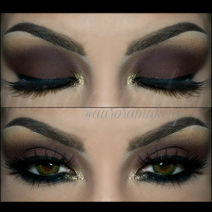 instagram : @auroramakeup FB:  https://www.facebook.com/AuroraAmorPorElMaquillaje Youtube:   http://tiny.cc/2hvjex  Products @MotivesCosmetics by @Lorenridinger -Eye Shadow Base -Pressed Eye Shadow in VANILLA , highlight brow bone -Pressed Eye Shadow in CAPPUCCINO, as transition color on the crease -Khol Eyeliner in ONYX , as dark base on mobile eyelid and lining waterline -Pressed Eye Shadow in VINO,  on mobile eyelid and crease -Gem Dust in 24K (Liquid Sugar by @eyekandycosmetics), highlighting tear duct -Pressed Eye Shadow in ONIX , blended below lower lashes -LaLa Mineral Volumizing & Legthening mascara in BLACK  Lashes are 094 by MoonLine