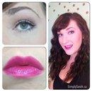 Mild cat eye & pink lips