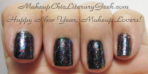 My New Year's Eve Mani! Cult Nails Clairvoyant over butter LONDON Chimney Sweep http://www.makeupchicliterarygeek.com/2011/12/new-years-eve-mani.html