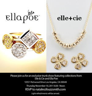 Ella Poe has been featured in Vogue, InStyle, Elle and People Magazine and Elle + Cie has been featured most recently on http://www.jewelsnob.com