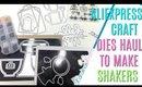 Aliexpress Craft Dies Haul to Make SHAKERS, aliexpress haul kscraft lovers store