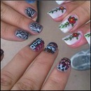 Friends Nails. Flowers - Tribal - Trees