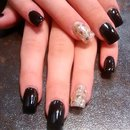 black with party nails