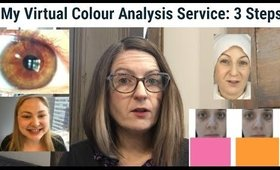 My Virtual Colour Analysis Service - The 3 Steps and Why I Do Each Step