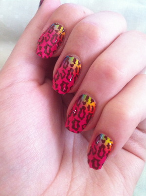 Colorful Animal Manicure