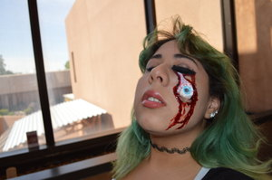 Additional Materials: Foam make-up sponge, liquid latex, and stage blood Tutorial: