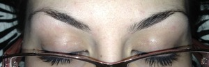 For all of those people out there that are saying my brows are too arched..these are my natural brows - naturally arched high.  Or in other words, I HAVE A LOT OF LID SPACE.