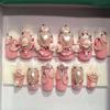 3D Himegyaru Princess Nails with roses