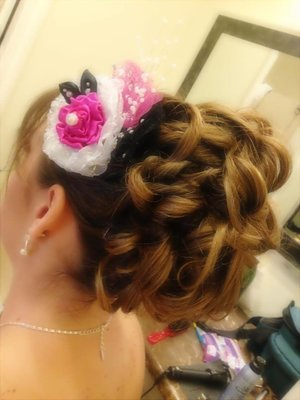 An up-do I did for a bridal party