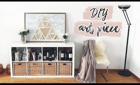 DIY Room Decor | Faux Marble Art Piece (Upcycling) ♡