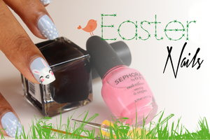 Hi !  Just did my nails for easter. It was my first attempt at drawing a bunny and I was quite happy about the result after all ! You can find more pics and the tutorial on my website, here's the direct link :  ** http://www.monsieurlili.com/#!easte... ** Page can take time to load depending on your internet browser, but please be patient and/or reload it, it's worth it !. If you still can't see it, find my nail art in the womanly section and you'll see them all ! I know it's in french and stuff but you can easily understand how to achieve those nails because of the pictures. Thanks for reading !