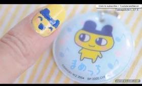 Tamagotchi Mametchi nail art tutorial
