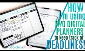 How I'm Using My Digital Planners, Planner Setup to Keep Track of Deadlines