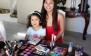 MY NIECE DOES MY MAKEUP!
