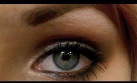 Glittery Neutral Smokey Eye Using Lorac 3D Liquid Lustre Drops