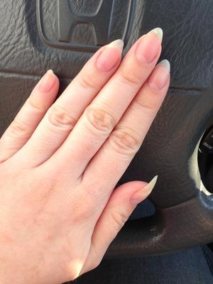 My nails enjoying taking some fresh air hehe