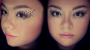 This was  a makeup look I created inspired by pointillism.  A fun little experiment ^_^  I recorded the full tutorial here: http://youtu.be/yI1tBOOfbLA