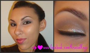 FOTD Neutral Eye with a Pop of Glitter & Deep Pink Lip