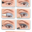 How to: Blue & Brown Makeup