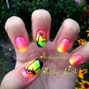 Sunset Nails / Palm Tree Nails