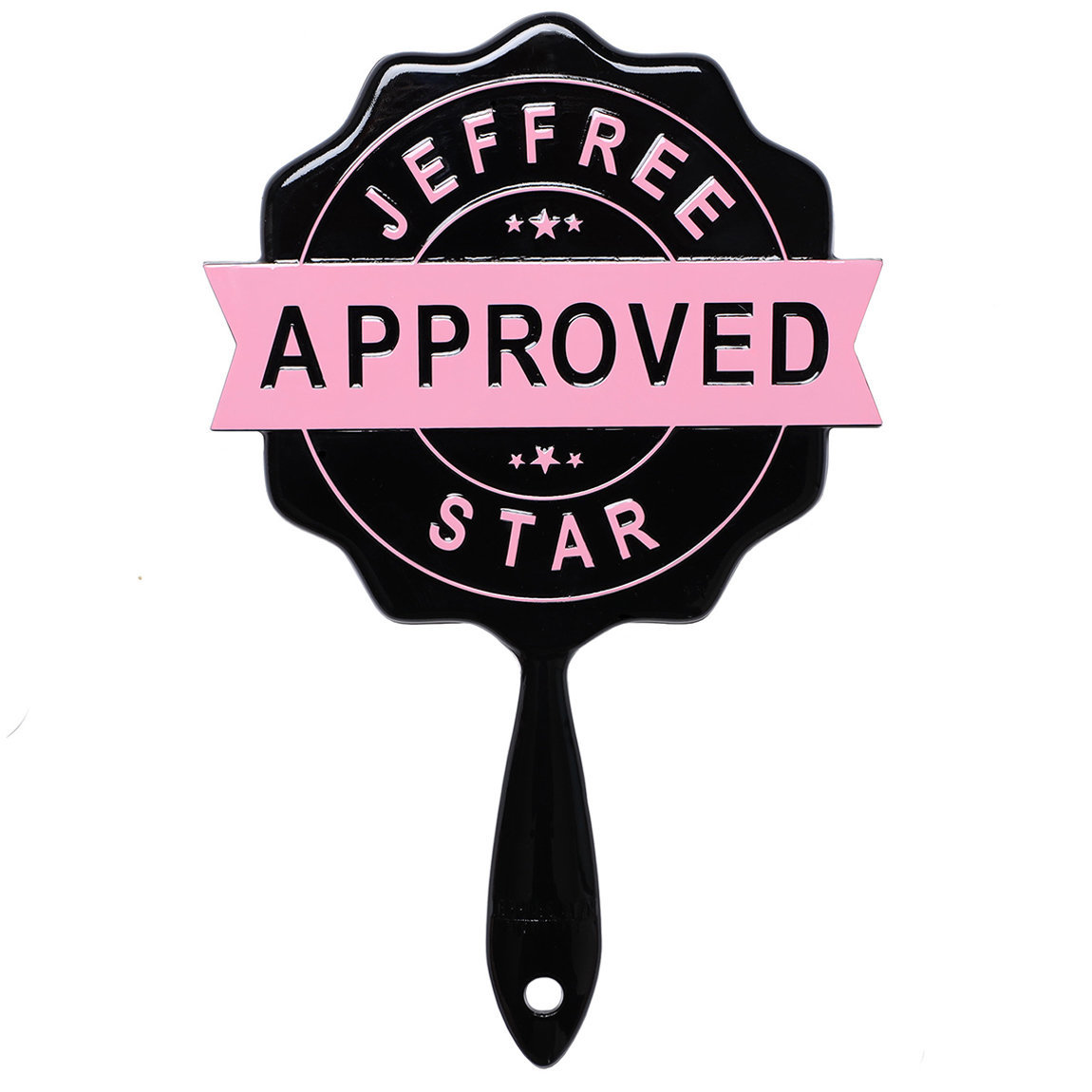 Jeffree Star Cosmetics Approved Stamp Mirror Black product swatch.