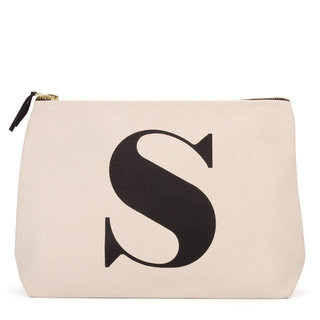 Natural Wash Bag Letter S