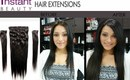 Instant Beauty's 150g Deluxe Full Set Clip In Hair Extensions - Apply Them Yourself!