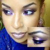 Purple and Gold Smokey eye