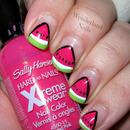 Watermelon Nail Art