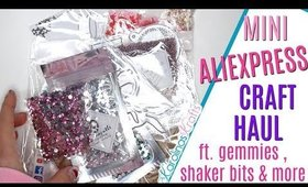 Mini Aliexpress Craft Supplies Haul ft Gems, rhinestones, charms & dies! Aliexpress haul accessories