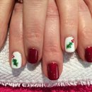 Gel Nail Art, Christmas Holly