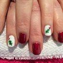 Gel Nail Art, Christmas Holly